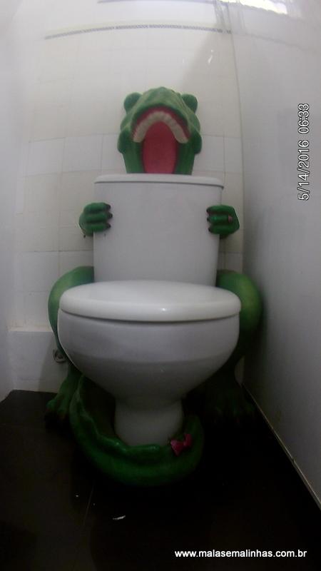 Até o banheiro é temático